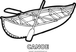 Native American Coloring Fun - Canoe